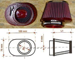 Bmc filtre moto